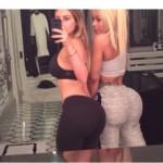 Kim Kardashian, selfie hot con l'amica: Il lato B su Instagram dopo la palestra