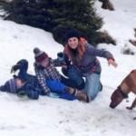 Alena Seredova, sulla neve senza Buffon
