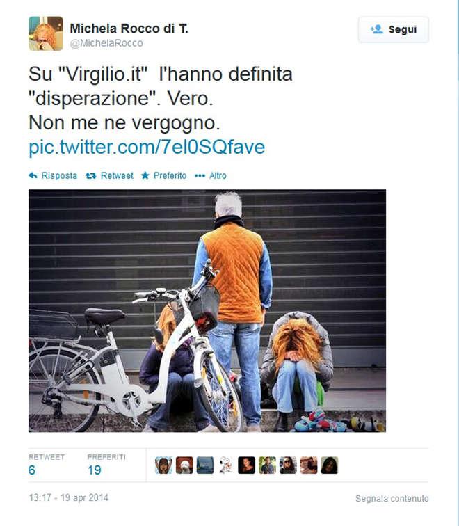 """Michela Rocco di Torrepadula e il tweet   """"disperato"""": """"E' vero, non me ne vergogno""""-Foto"""