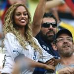Wags azzurre allo stadio: Fanny Neguesha e   Carolina Marcialis sugli spalti per l'Italia-Foto